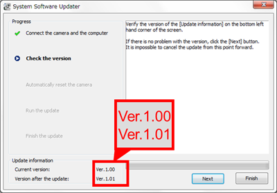 HDR-AS50 System Software (Firmware) Update Ver 1 01 (Windows