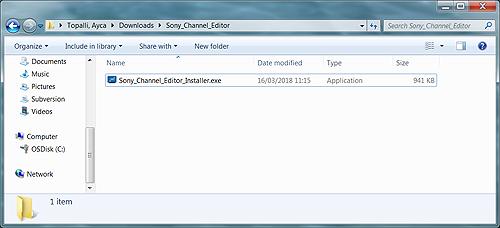 Sony Channel Editor Ver 1 2 0 (Windows) | Sony UK