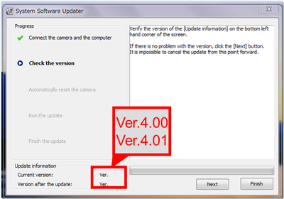 Updater Systemsoftware – Aktuelle Version