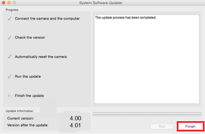 ILCE-7RM2 System Software (Firmware) Update Ver  4 01 (Mac