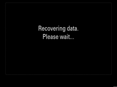 Recovering data. Please wait...