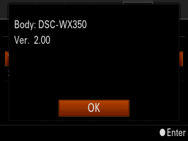 Sony dsc-w350 firmware update.
