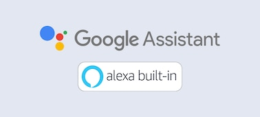 Google Assistant ands Alexa built-in logo