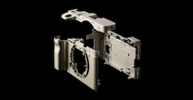 Image of the camera structure with magnesium parts