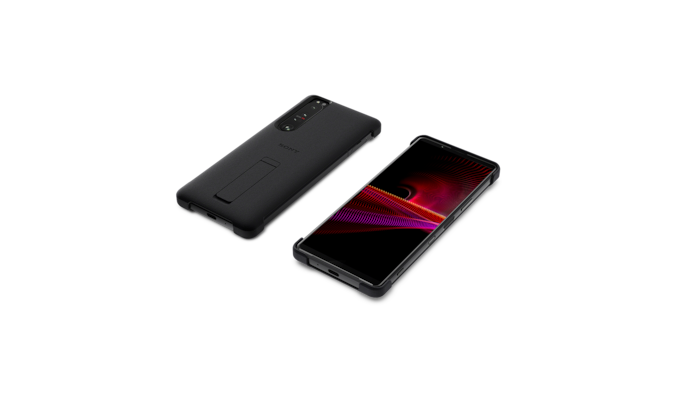 Xperia 1 III with style cover and stand front and back