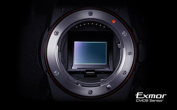 Image of the 24.3MP APS-C CMOS sensor