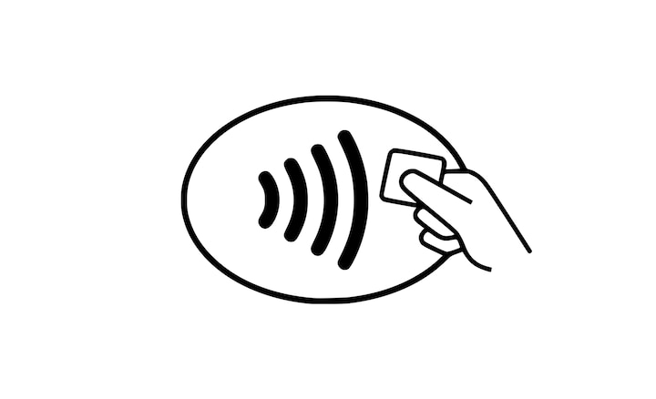 contactless payment symbol