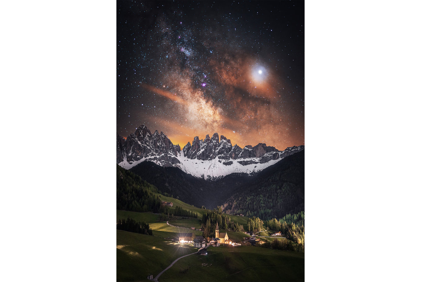 Stefan Liebermann sony alpha 7m3 small village in the heart of a valley surrounded by mountains and the milky way