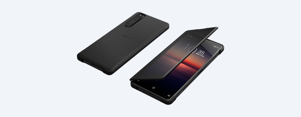 Images of Xperia 1 II Style Cover View XQZ-CVAT | Check notifications through the cover