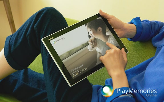 PlayMemories Online with Sony Tablet