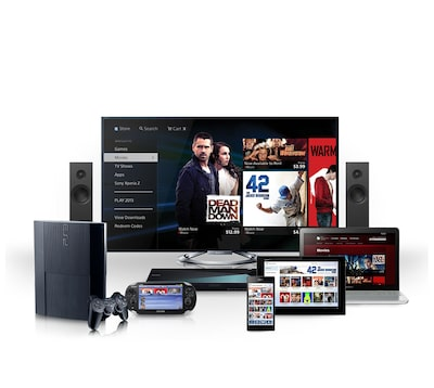 Collection of various Sony devices: TV, laptop, tablet, mobile