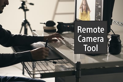 Working with a PC in the studio and Remote Camera tool logo
