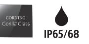 Corning Gorilla Glass & IP65/68 logos