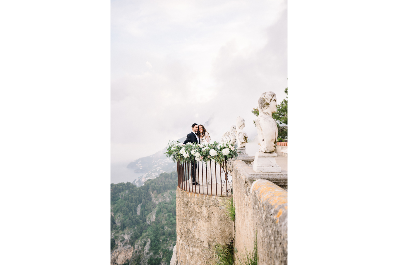 sandra aberg sony alpha 7r3 brides standing on a decorated terrace with a view on surrounding nature