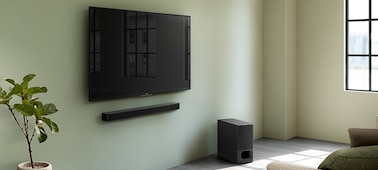 Picture of 2.1ch Soundbar with powerful wireless subwoofer and BLUETOOTH® technology | HT-S350 & HT-SD35