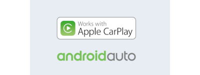 Android Auto and Apple CarPlay logos