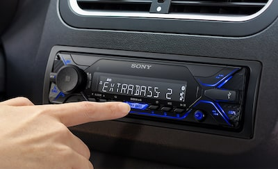 Image DSX-A510BD in the dashboard and someone pressing a button