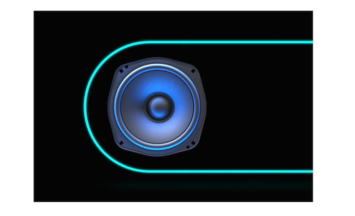 The illumination image of SONY EXTRA BASS.