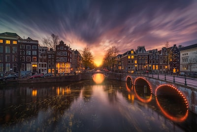Albert Dros Sony Alpha 7RII amsterdam canal at night long exposure