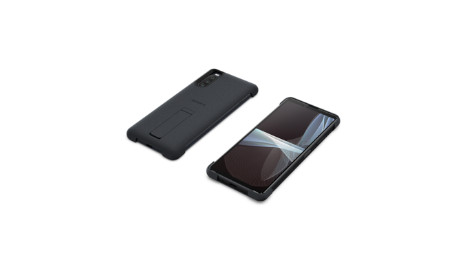 Xperia 10 III  showing the cover front and back